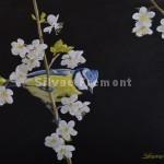 Angèle  Huile sur bois gravé 22,5 x 30 cm