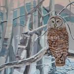 Marilou dans la neige  Huile sur toile61 x 50 cm