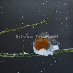 Robin in the SnowHuile sur Tintoretto20 x 20 cm
