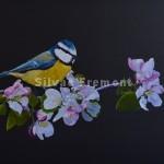 FloretteHuile sur bois22,5 x 30 cm