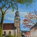 Le clocher de ProvenchèresHuile sur toile41 x 33 cm