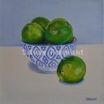 Citrons VertsHuile sur toile20 x 20 cm