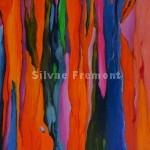 Rainbow Bark IHuile sur bois10 x 10 cm