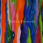Rainbow Tree IIHuile sur bois10 x 10 cm