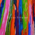 Rainbow Bark IIIHuile sur bois10 x 10 cm