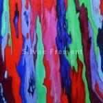 Rainbow Bark IXHuile sur bois10 x 10 cm