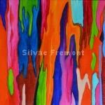 Rainbow Bark VHuile sur bois10 x 10 cm