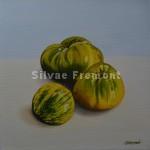 Tomates Green ZebraHuile sur toile20 x 20 cm