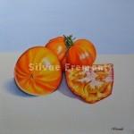 Tomates OrangesHuile sur toile20 x 20 cm