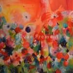 """""""Fairy garden""""huile & acrylique sur toile60 x 60 cm"""