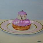 Religieuse à la roseHuile sur toile20 x 20 cm