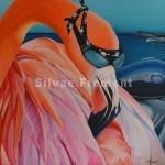 Pink BikerHuile sur toile80 x 80 cm