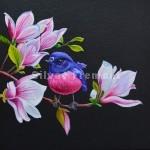 RoseHuile sur bois10 x 10 cm