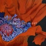 Poppy Heart IHuile sur bois10 x 10 cm