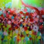 PoppiesHuile & acrylique sur toile40 x 40 cm